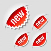 Link toColor discount stickers design vector graphics 06