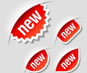 Color discount Stickers design vector graphics 06
