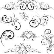 Link toSwirls decor design vector set 01