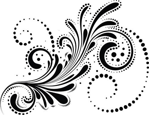 Swirls decor design vector set 05