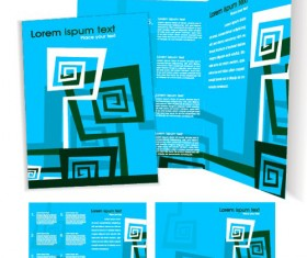 Template cover brochure design vector 01