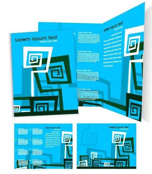 Template cover brochure design vector 01