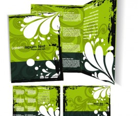 Template cover brochure design vector 03