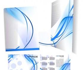 Template cover brochure design vector 04