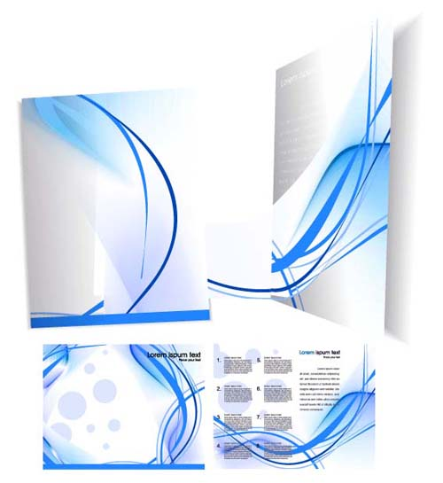 Template cover brochure design vector 04