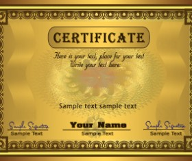 Set of certificate and diploma vector templates 02