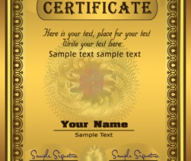 Set of certificate and diploma vector templates 03