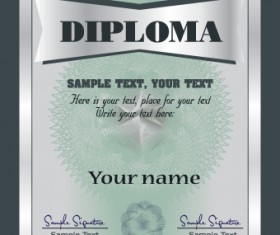 Set of certificate and diploma vector templates 04