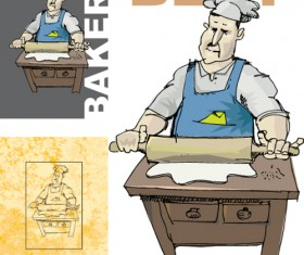 Chef with menu cover Templates vector graphic 04