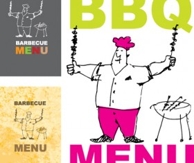 Chef with menu cover Templates vector graphic 05