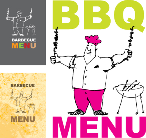Chef with menu cover templates vector graphic 05 free download for Chef template resource
