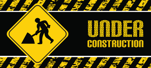 Construction signs mix Garbage elements vector 01