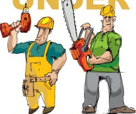 Workers in the Under construction vector 01