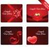 Various Valentines Day Cards design vector set 11