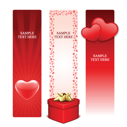 Various Valentines Day Cards design vector set 02 Vector Card – Valentines Day Cards Design