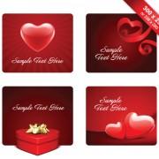 Link toVarious valentines day cards design vector set 07