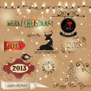 Link toVarious christmas decor elements vector set 04
