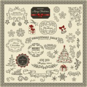 Link toVarious christmas decor elements vector set 02