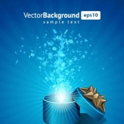 Link toVector background with gift box set 01