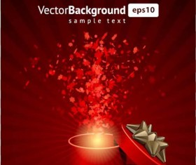 Vector Background with Gift Box set 02