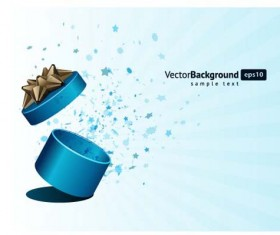 Vector Background with Gift Box set 03