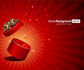 Vector Background with Gift Box set 04