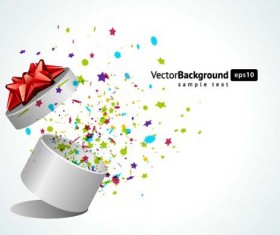 Vector Background with Gift Box set 05