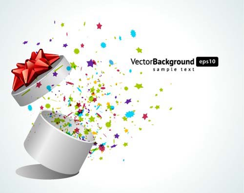 Vector Background With Gift Box Set 05 Free Download
