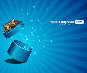 Vector Background with Gift Box set 06