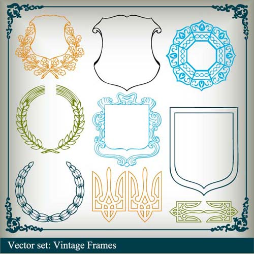 Various Vector frame set 01 free download