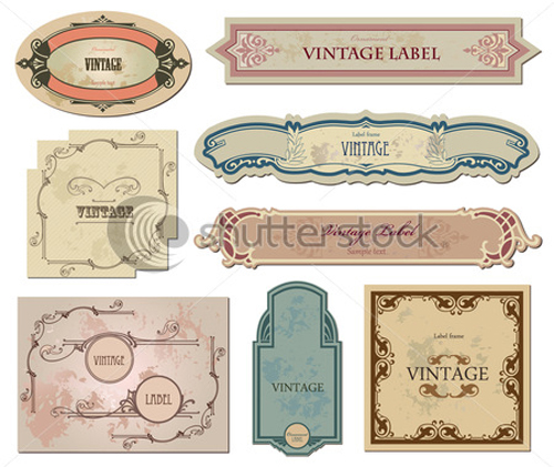 Vintage Labels art vector graphic 02 free download