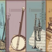Link toHand drawn vintage musical instruments vector 05