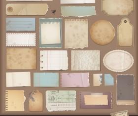 Vintage Torn paper elements vector 05