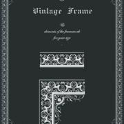 Link toVintage frame and decor element vector material 02