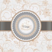 Link toVintage backgrounds with luxurious floral vector 01