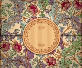 Vintage backgrounds with luxurious Floral vector 05