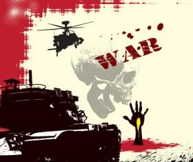 War design elements Illustration vector graphic 03