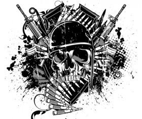 War design elements Illustration vector graphic 04