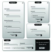 Link toWeb login window elements vector 02