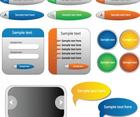 Shiny Web button vector Collection 01