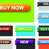 Web ribbons elements and button vector 02