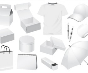 Set of White objects In life elements vector material 10