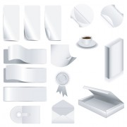 Link toSet of white objects in life elements vector material 05