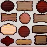 Link toVarious wooden label design vector 03