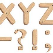 Link toCreative wooden alphabet design vector set 03