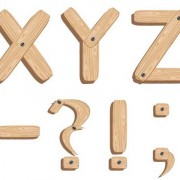 Link toCreative wooden alphabet design vector set 04