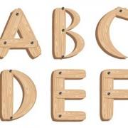 Link toCreative wooden alphabet design vector set 05