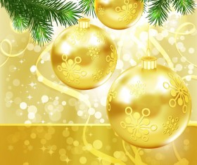 Shiny Xmas decorations design vector 01