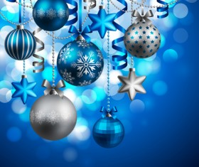 Shiny Xmas decorations design vector 03