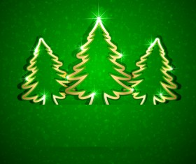 Shiny Xmas decorations design vector 04